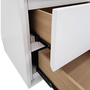 Yuki 2-Drawer Nighstand - AC White