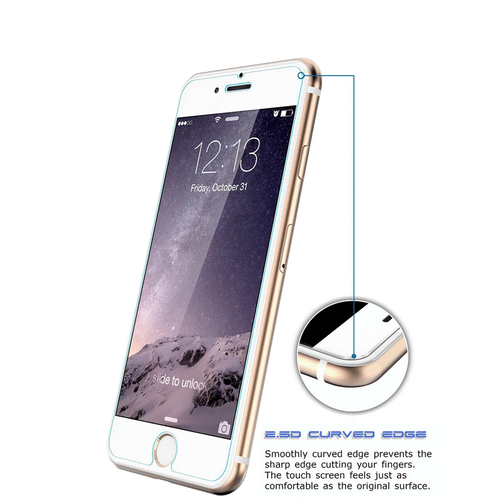iPhone 6 and 6S Nuglas 2.5D Tempered Glass Protection Screen
