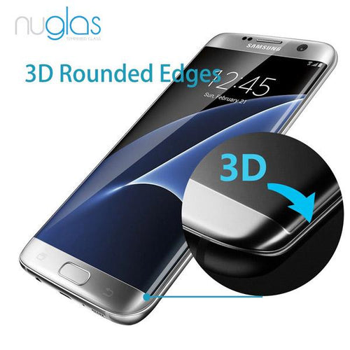 Samsung Galaxy S7 Edge Nuglas Full Coverage 3D Tempered Glass Protection Screen