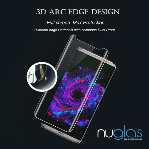 Samsung Galaxy S8+ Nuglas Full Coverage 3D Tempered Glass Protection Screen