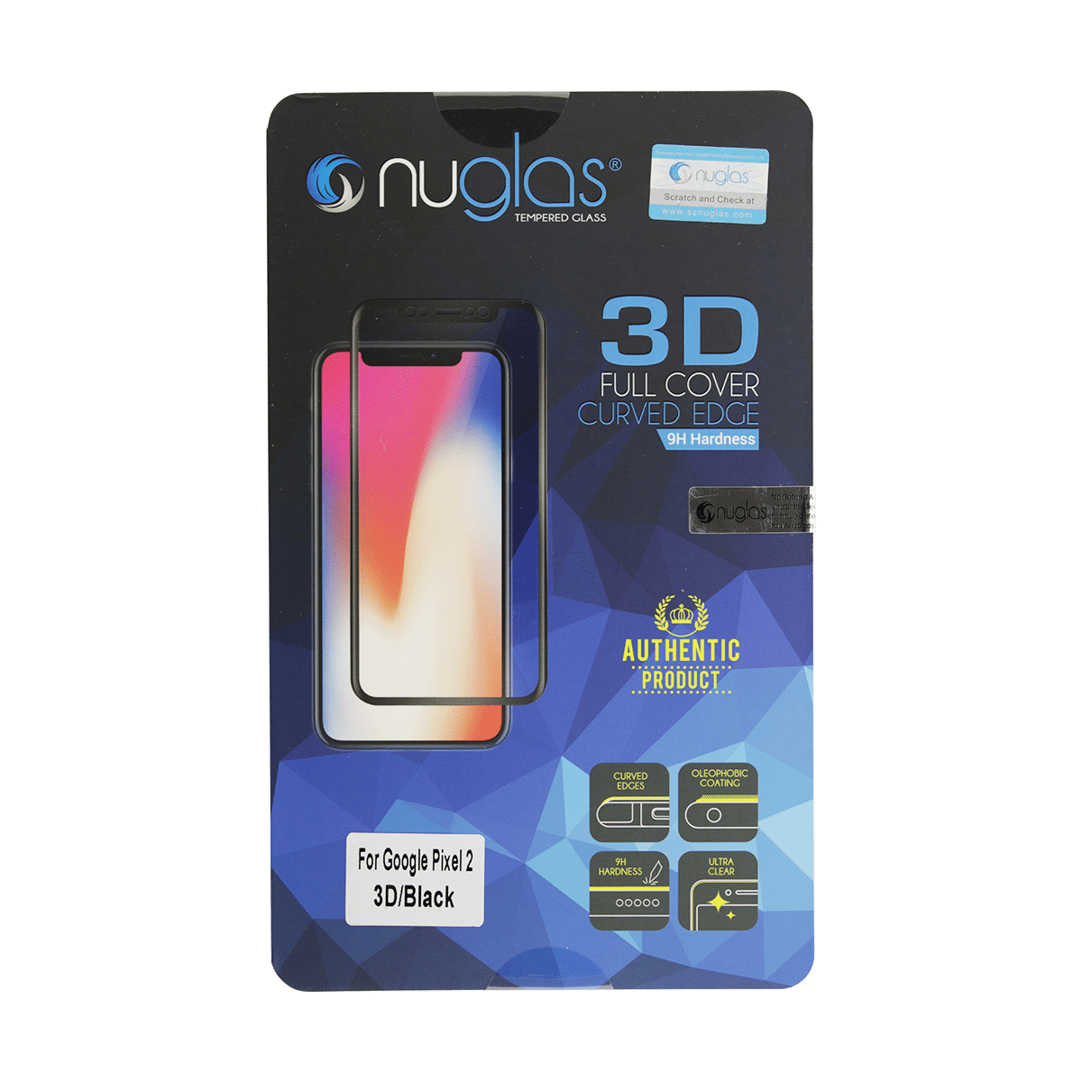 Google Pixel 2 NuGlas Tempered Glass Protection Screen