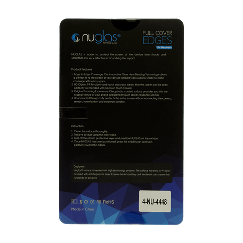 LG G7 ThinQ Nuglas 2.5D Full Coverage Tempered Glass Protection Screen