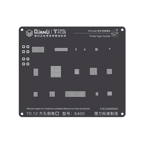 QianLi iPhone 3D Black Power Logic Module Reballing Stencils