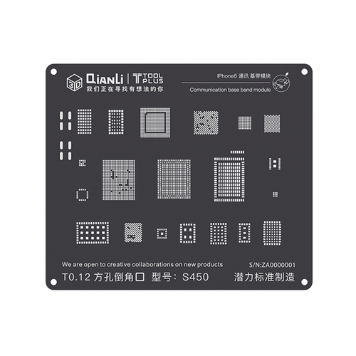 QianLi iPhone 3D Black Communications Base Band Module Reballing Stencils