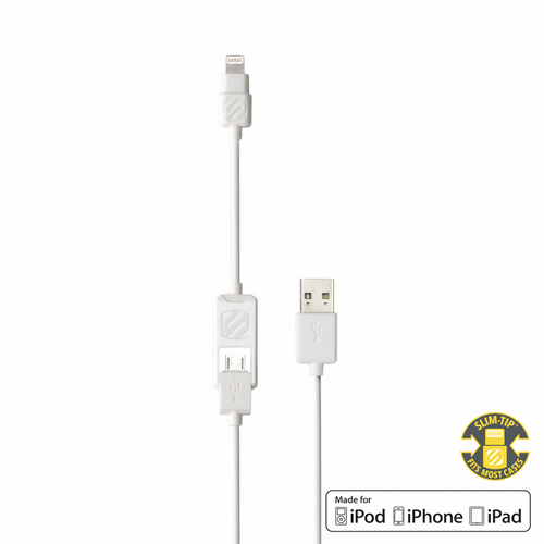 Charge & Sync Cable for Lightning/Micro USB Devices