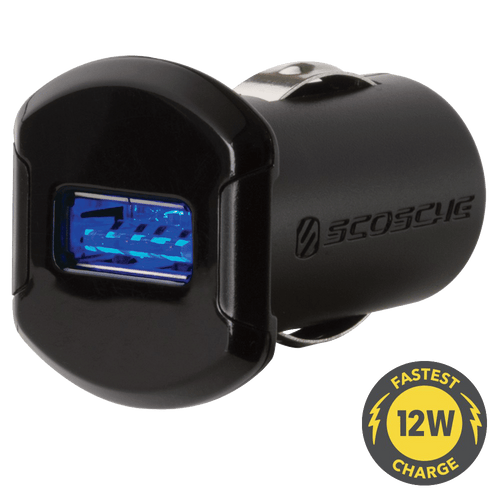 Scosche 12W Car Charger & 3 ft. Micro-USB Cable