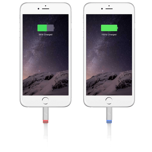 Scosche Flatout LED 6 ft. Charge & Sync Cable w/LED Indicator for Lightning Devices