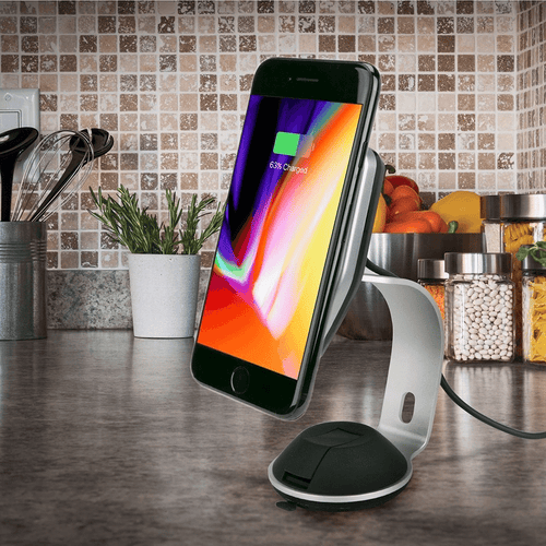 Scosche Magnetic Phone Mount and Qi Charger for Home/Office
