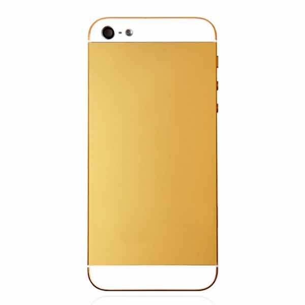 Iphone 5 Gold Back Cover Conversion Kit Repairs Universe