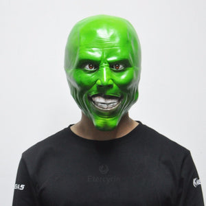 The Mask Movie Jim Carrey Cosplay Green Mask Costume Halloween Party