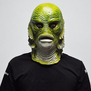 Creature from the Black Lagoon Scary Monster Latex Fish Mask