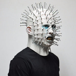 Pinhead Masks Hellraiser Movie Cosplay Latex Adult Party Masks for Halloween