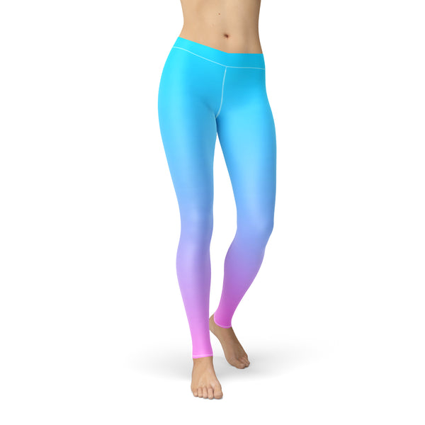 Amber Blue Pink Ombre,XS / Blue / Soft Lycra