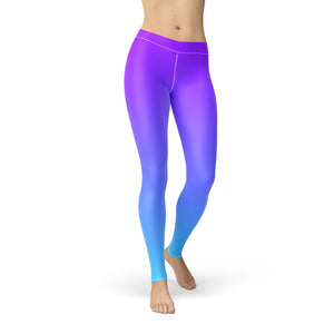 Amber Purple Blue Ombre,XS / Purple / Soft Lycra