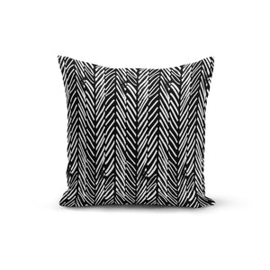 Abstract Lines Black Throw Pillows