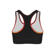 Fiery Triangles Back Color Sports Bra