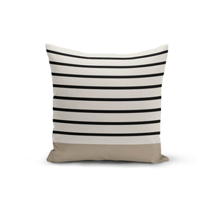 Black Stripe Earth Throw Pillows