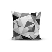 Black White Geometric Throw Pillows