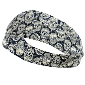 Black White Skulls Headband