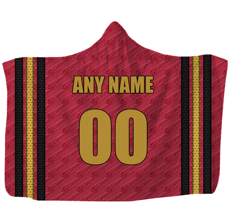 "Customized Calgary Hooded Blanket,Adult 55""x80"" / Sweatshirt Fleece"