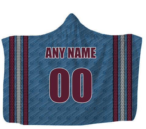 "Customized Colorado Hooded Blanket,Adult 55""x80"" / Sweatshirt Fleece"