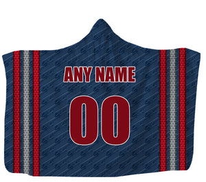 "Customized Columbus Hooded Blanket,Adult 55""x80"" / Sweatshirt Fleece"