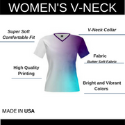 Custom Womens V Neck