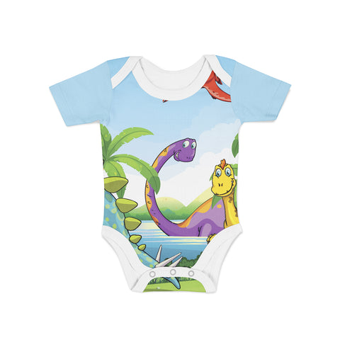 Infant Dino Island Onesie,Preemie / Multicolored / Buttersoft
