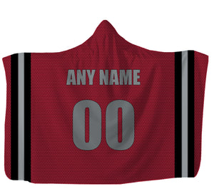"Customized Atlanta Hooded Blanket,Adult 55""x80"" / Sweatshirt Fleece"
