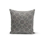 Grey Trellis Throw Pillows