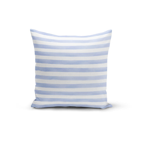 Light Blue Stripes Throw Pillows,18x18 / Multicolored / Polyester