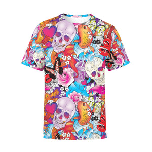 Men's Tattoo Skulls T-Shirt,S / Multicolored