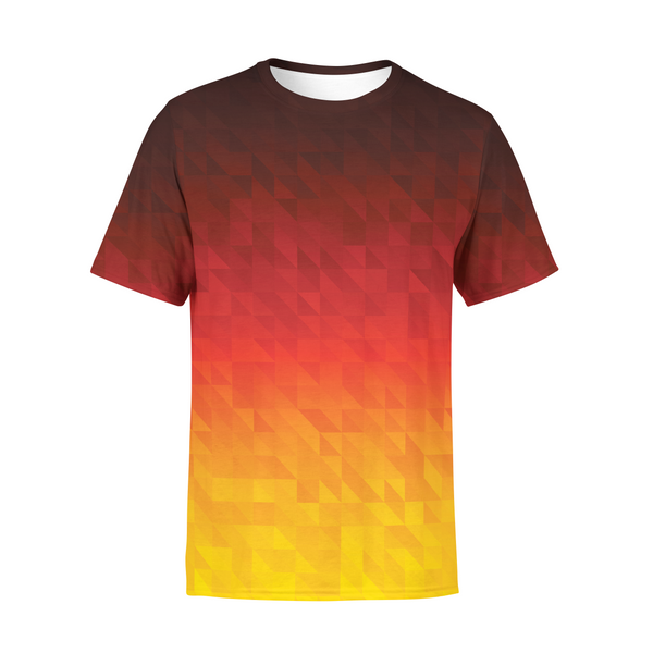 Men's Fiery Triangles T-Shirt,S / Multicolored