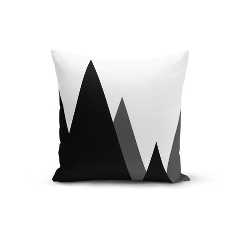 Modern Mountains Throw Pillows,18x18 / Multicolored / Polyester