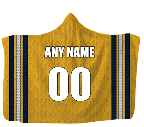 "Customized Nashville Hooded Blanket,Adult 55""x80"" / Sweatshirt Fleece"