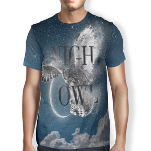 Unisex Night Owl T-Shirt,S / Multicolored