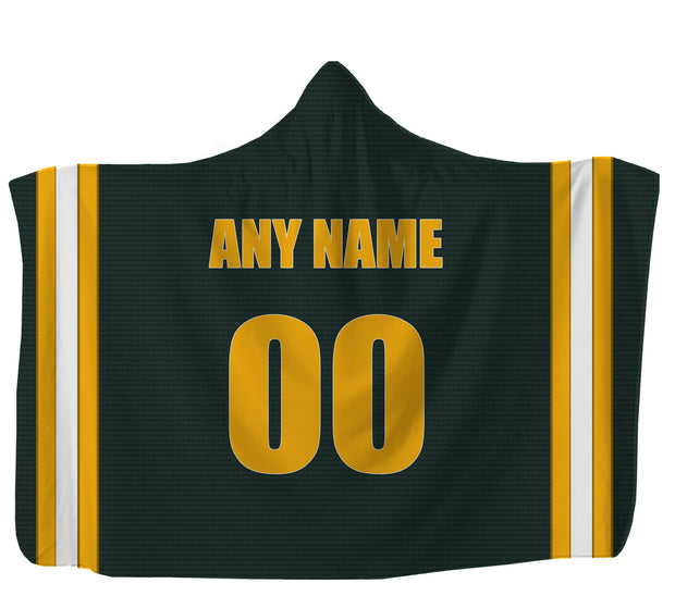Customized Green Bay Hooded Blanket