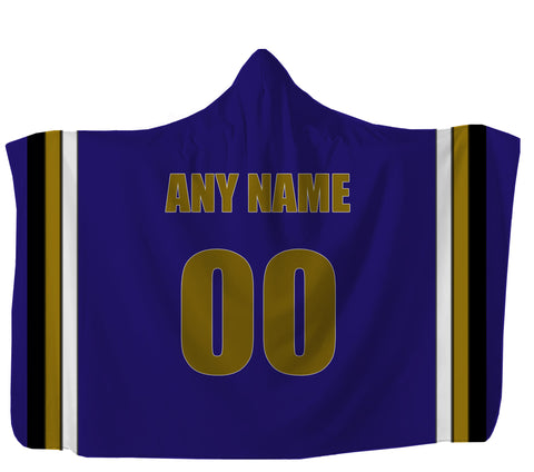 Customized Baltimore Hooded Blanket