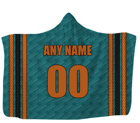 "Customized San Jose Hooded Blanket,Adult 55""x80"" / Sweatshirt Fleece"