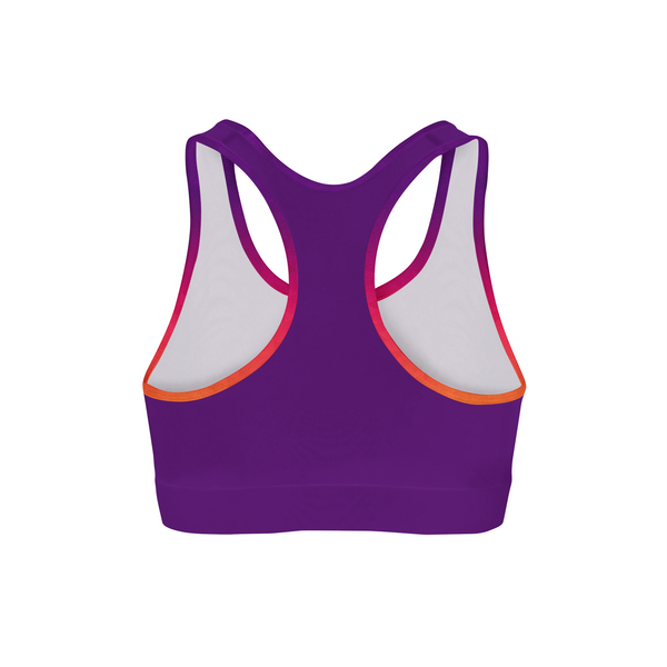 Sunset Triangles Color Back Sports Bra