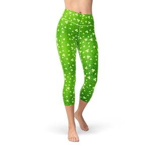 Nellie Yoga Bright Clovers,XS / Green / Soft Lycra
