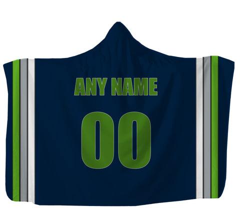 Customized Seattle Hooded Blanket