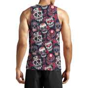 Red and Black Sugar Skulls Tank