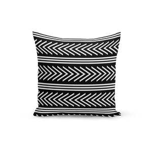 Stripes Zig Lines Throw Pillows,18x18 / Multicolored / Polyester
