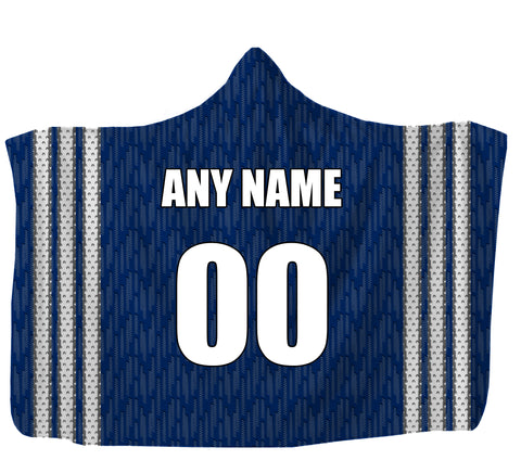 "Customized Tampa Hooded Blanket,Adult 55""x80"" / Sweatshirt Fleece"