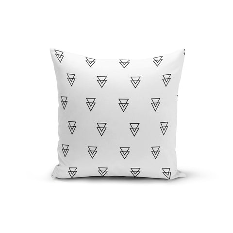 Triangle Outlines Throw Pillows,18x18 / Multicolored / Polyester