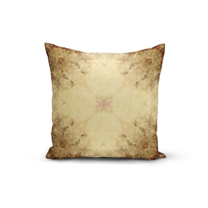 Vintage Earth Flowers Throw Pillows,18x18 / Multicolored / Polyester