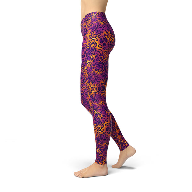 Tonya Purple Cheetah Print