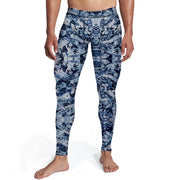 Men's Navy Camo Tights