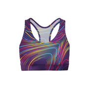 Colorful Waves Sports Bra